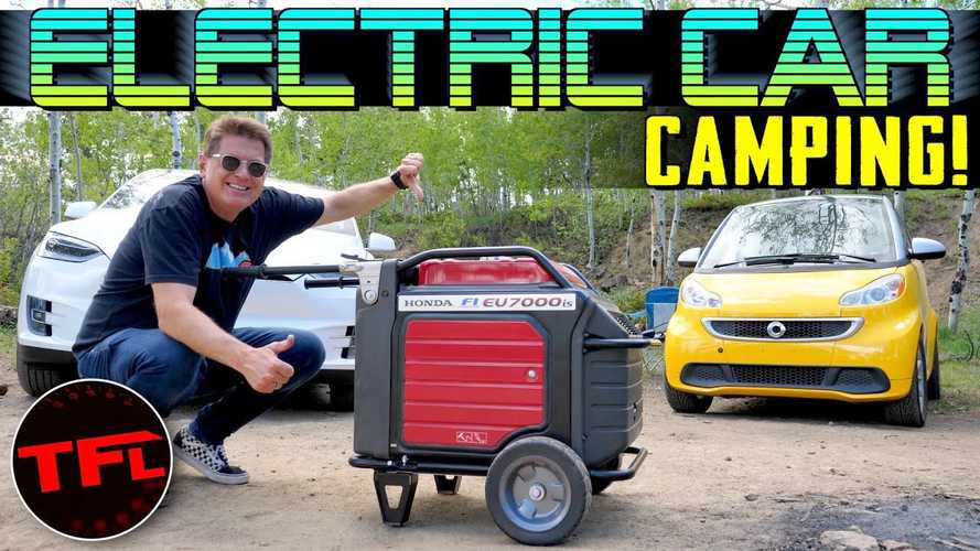 Can You Charge A Tesla Model X & Electric Smart Car While Camping?