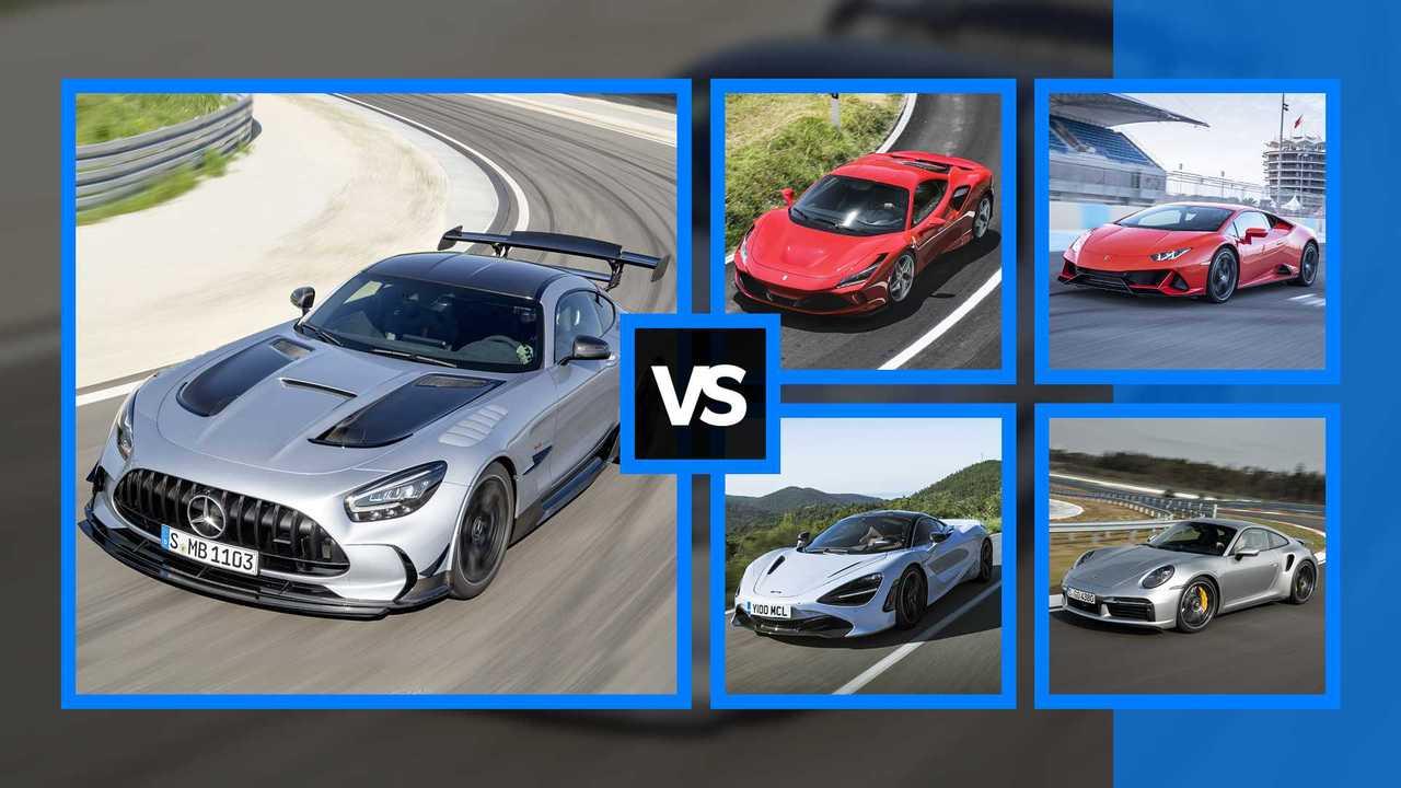 Mercedes-AMG GT Black Series e le altre supercar