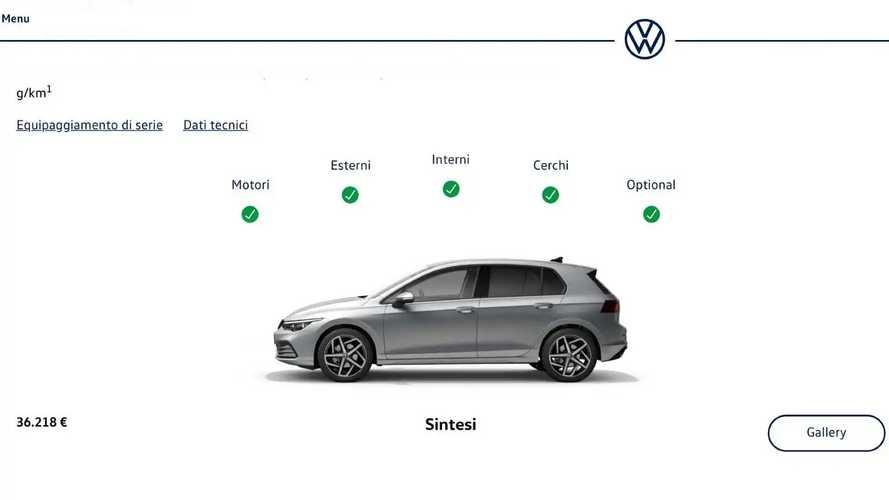 Volkswagen Golf 8, Come Configurarla
