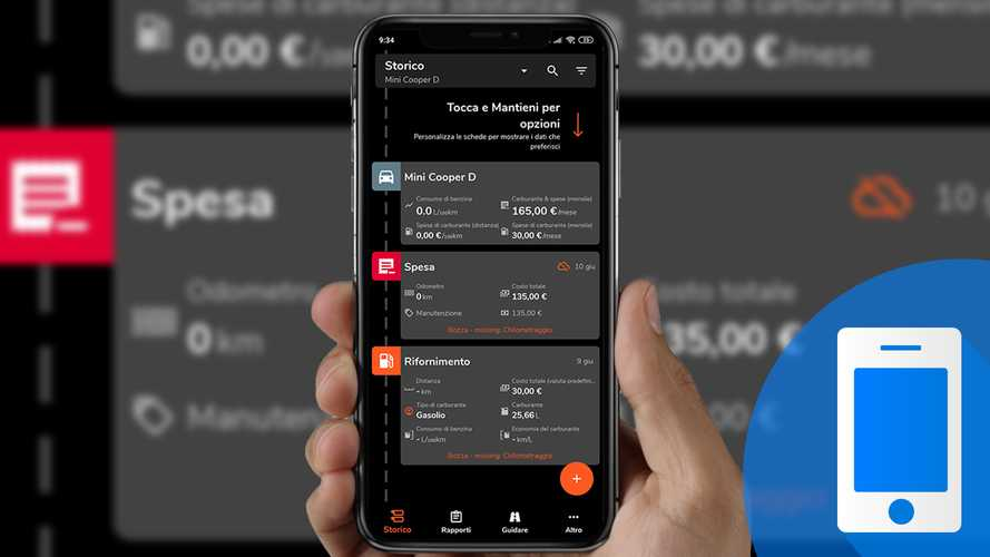 Motolog, come funziona l'app per controllare consumi e spese dell'auto