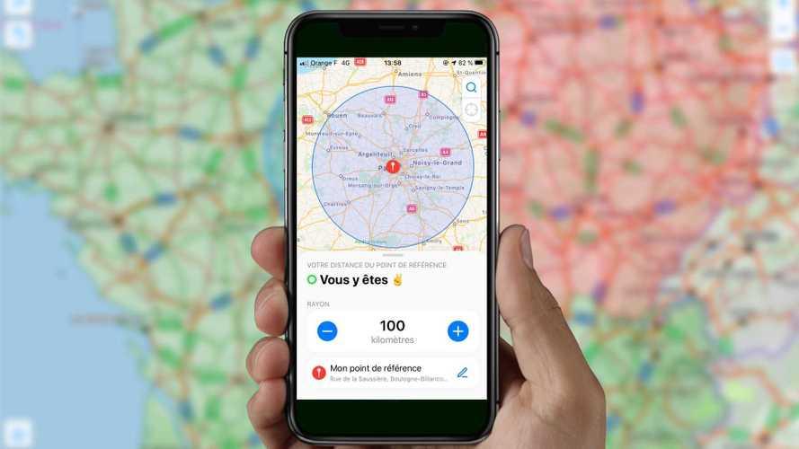 Rayon de 100 km - 3 applications à avoir avec vous en voiture !