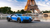 Bugatti Chiron Pur Sport Európa-turné