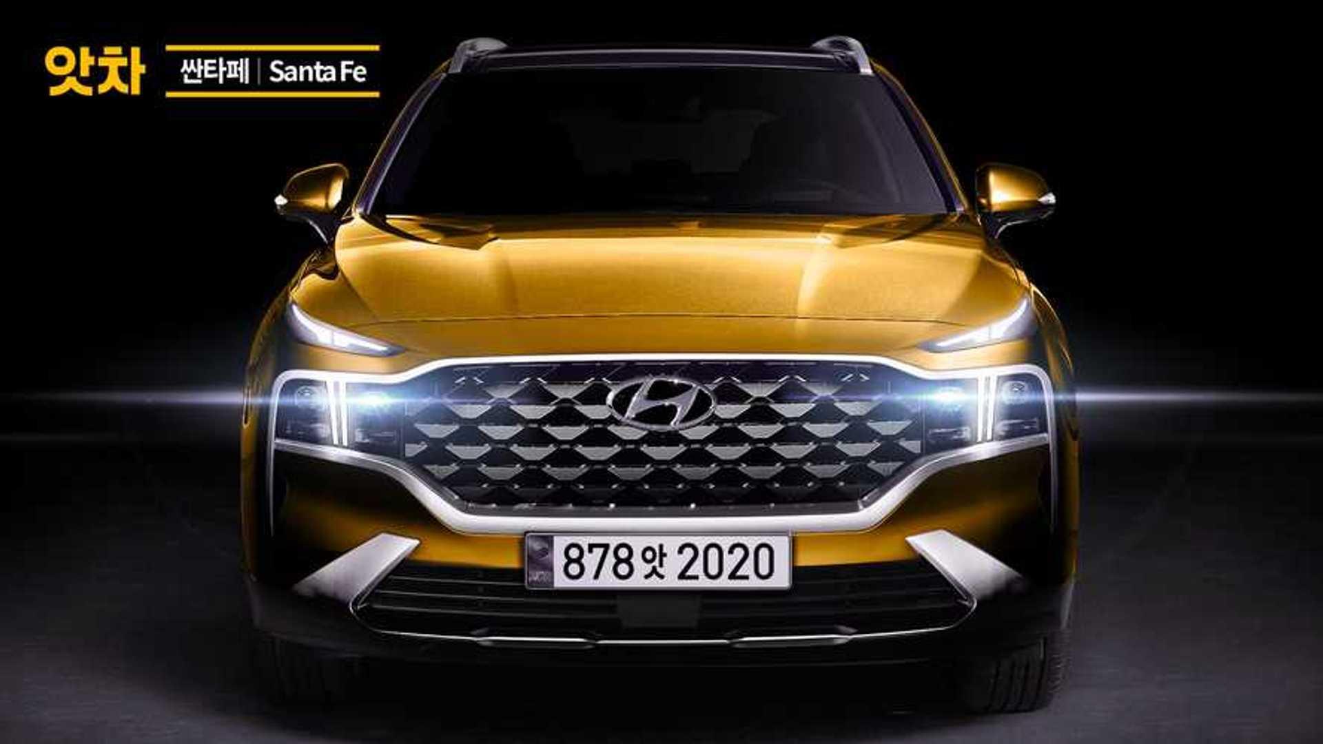 Novo Hyundai Santa Fe 2021 Ganha Projecao Realista Apos Teaser Oficial