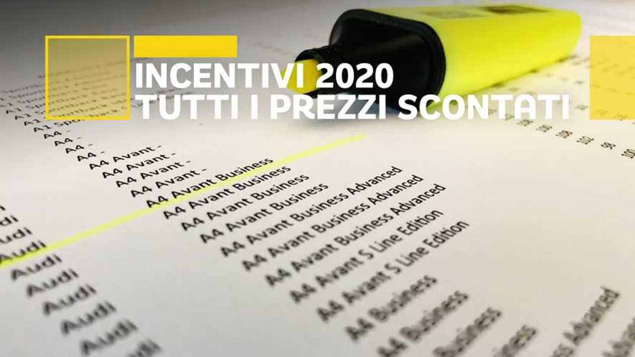Incentivi auto 2020, tutti i listini prezzi scontati