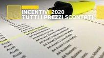 incentivi auto 2020 listini prezzi scontati