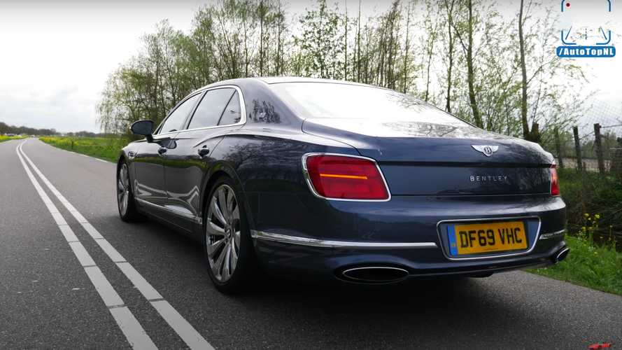 Watch Bentley Flying Spur In A Comfortable Top Speed Run