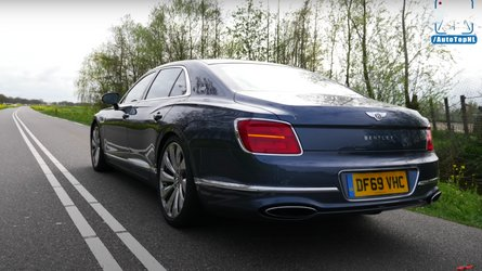Watch Bentley Flying Spur in comfortable top speed run