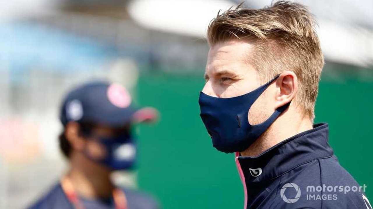 Lance Stroll and Nico Hulkenberg at 70th Anniv British GP 2020