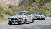 2021 BMW M3 Sedan and M4 Coupe spy photos