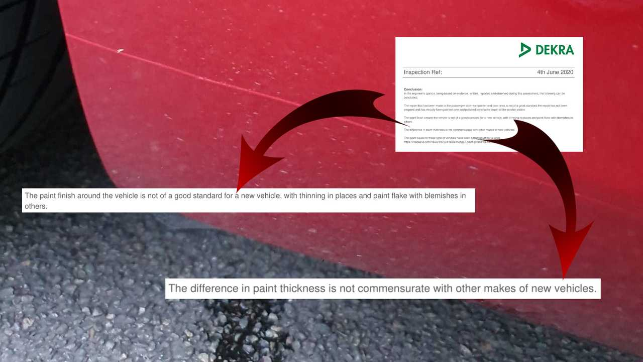 UK Inspection Says Tesla Model 3 Paint Is Not Of A Good Standard