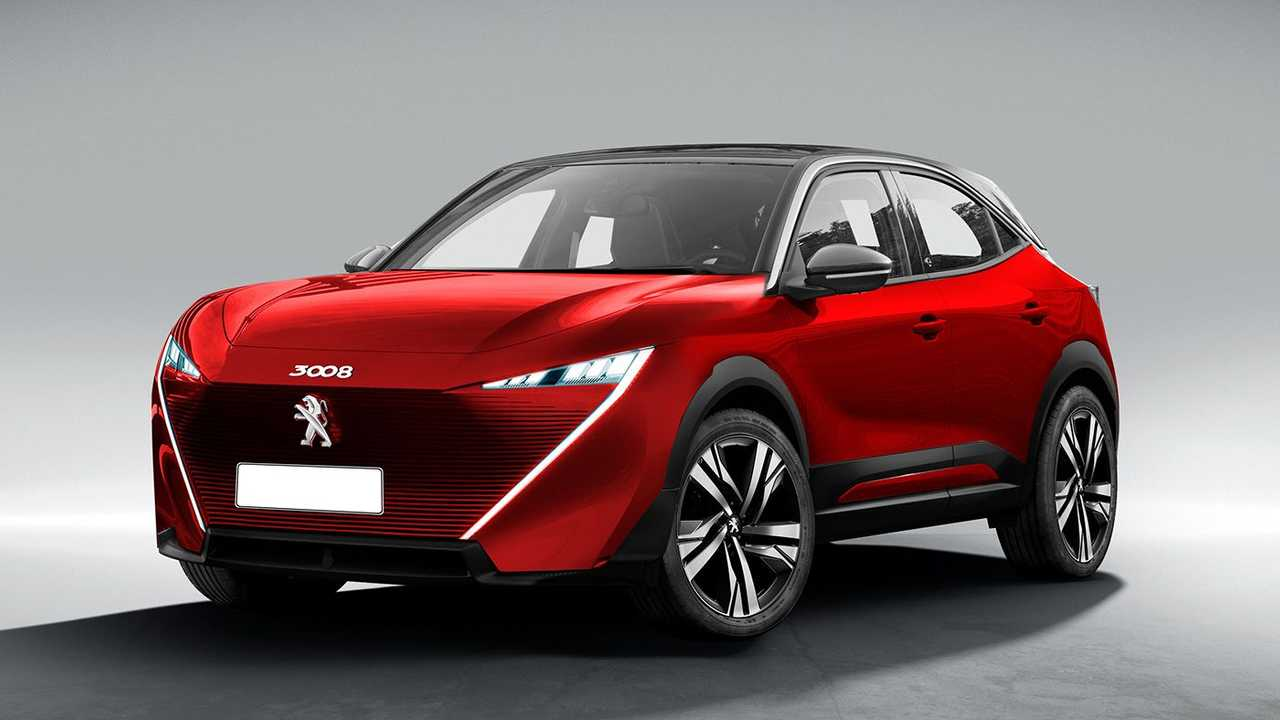 Peugeot 3008 Coupe rendering