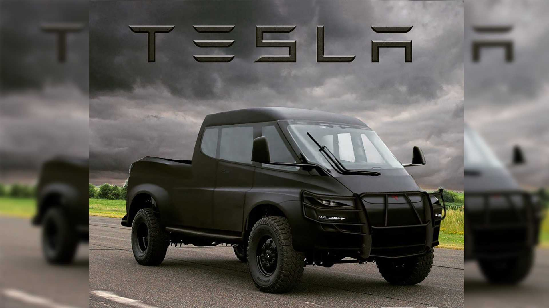 Musk: Tesla Truck Looks Like This Mixed With Armored Future Vehicle