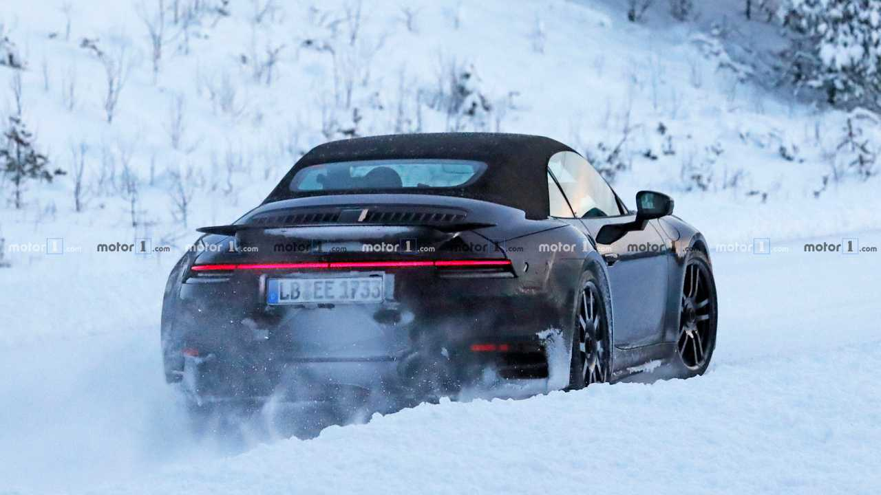 2020 Porsche 911 Turbo Cabriolet spy photo