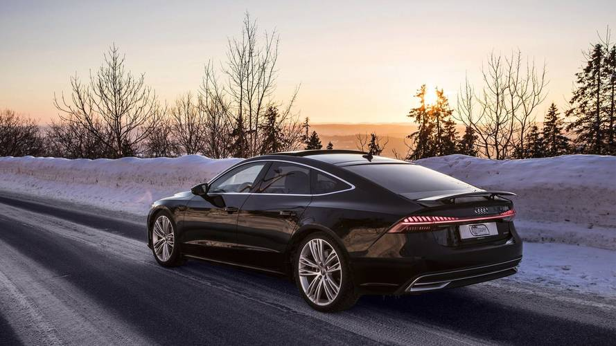 2019 Audi A7 Sportback photo shoot in Olso