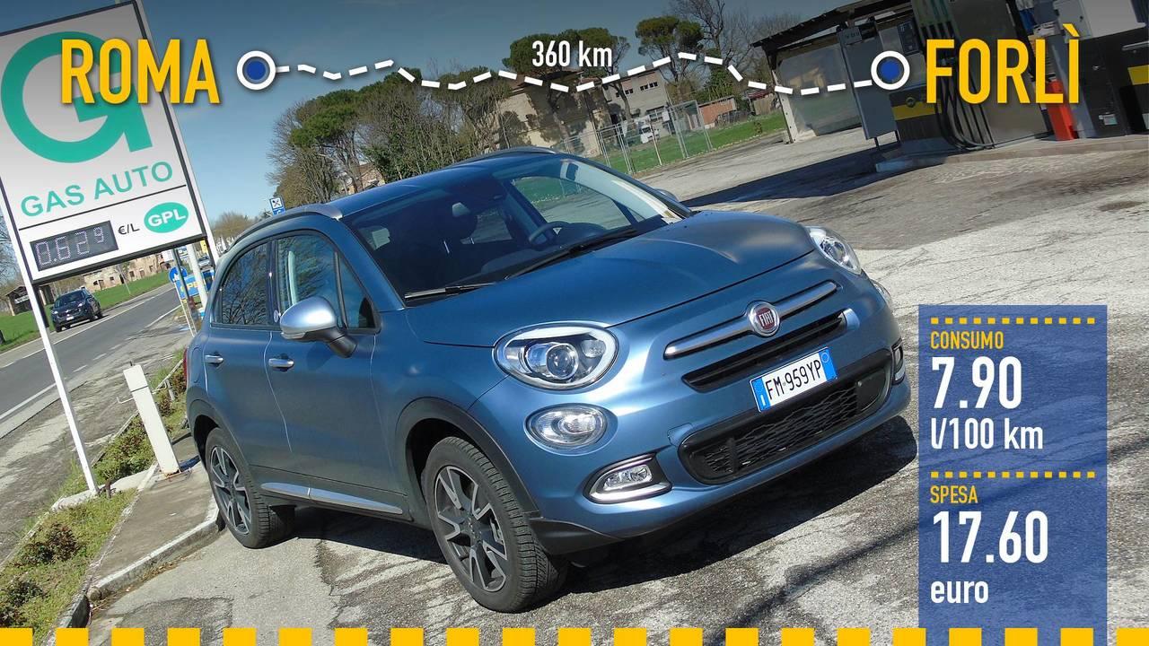 Fiat 500X GPL, la prova consumi