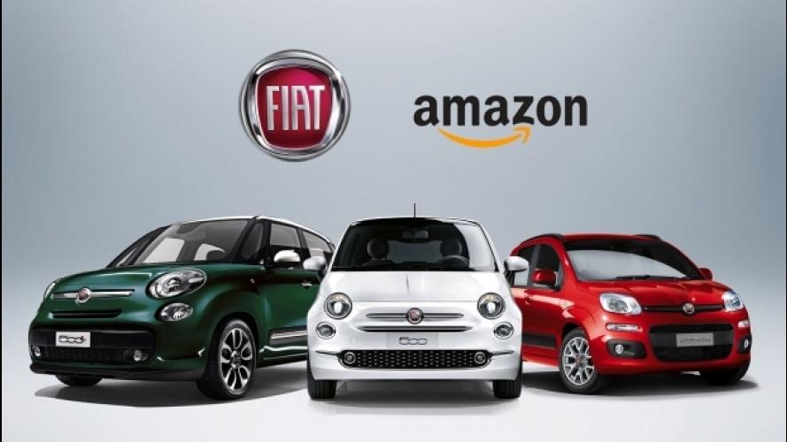 Fiat Panda, 500, 500C e 500L si comprano su Amazon