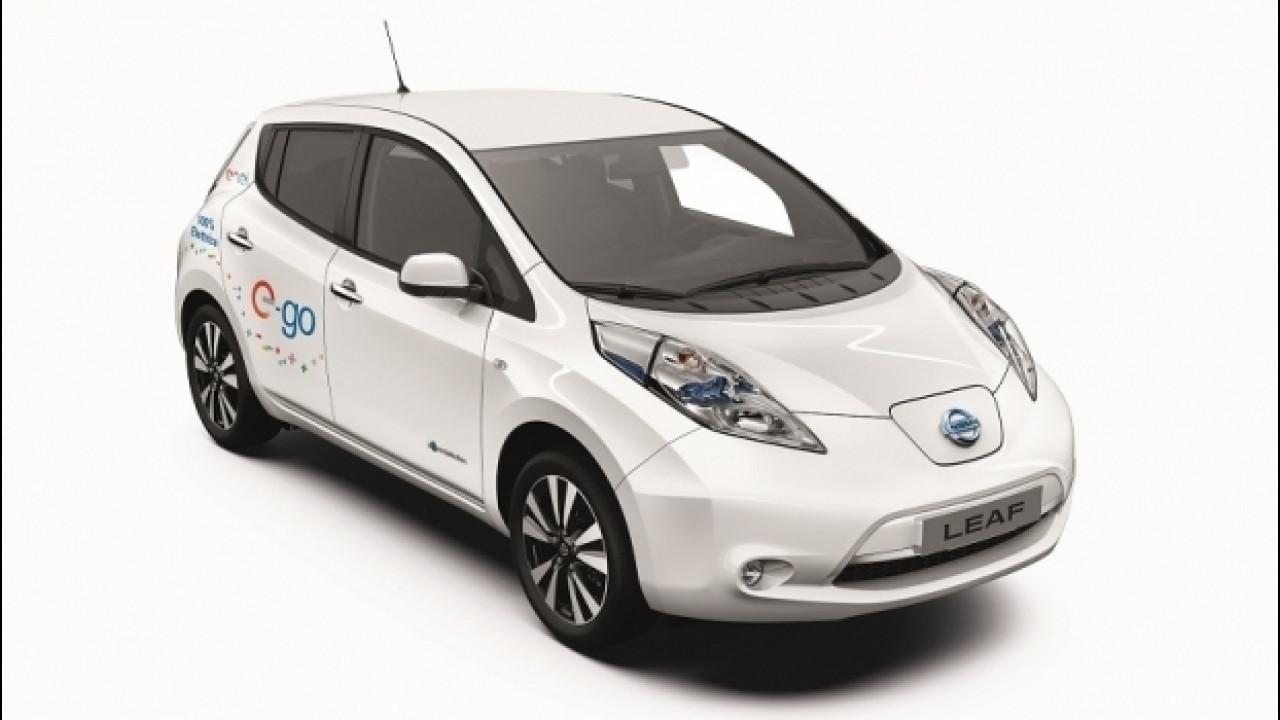 """[Copertina] - Nissan Leaf e-go All Inclusive, l'auto elettrica con """"tutto incluso"""""""