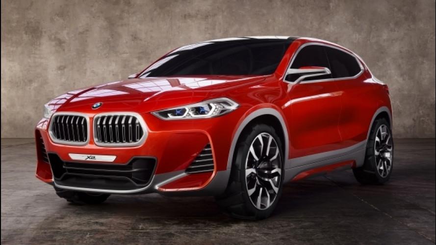 BMW X2, più coupé che SUV