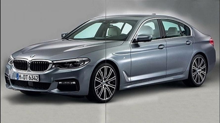 Nuova BMW Serie 5, prime foto sul web
