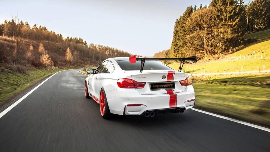 BMW M4, Manhart modifiyesi ile tam bir pist otomobili oluyor