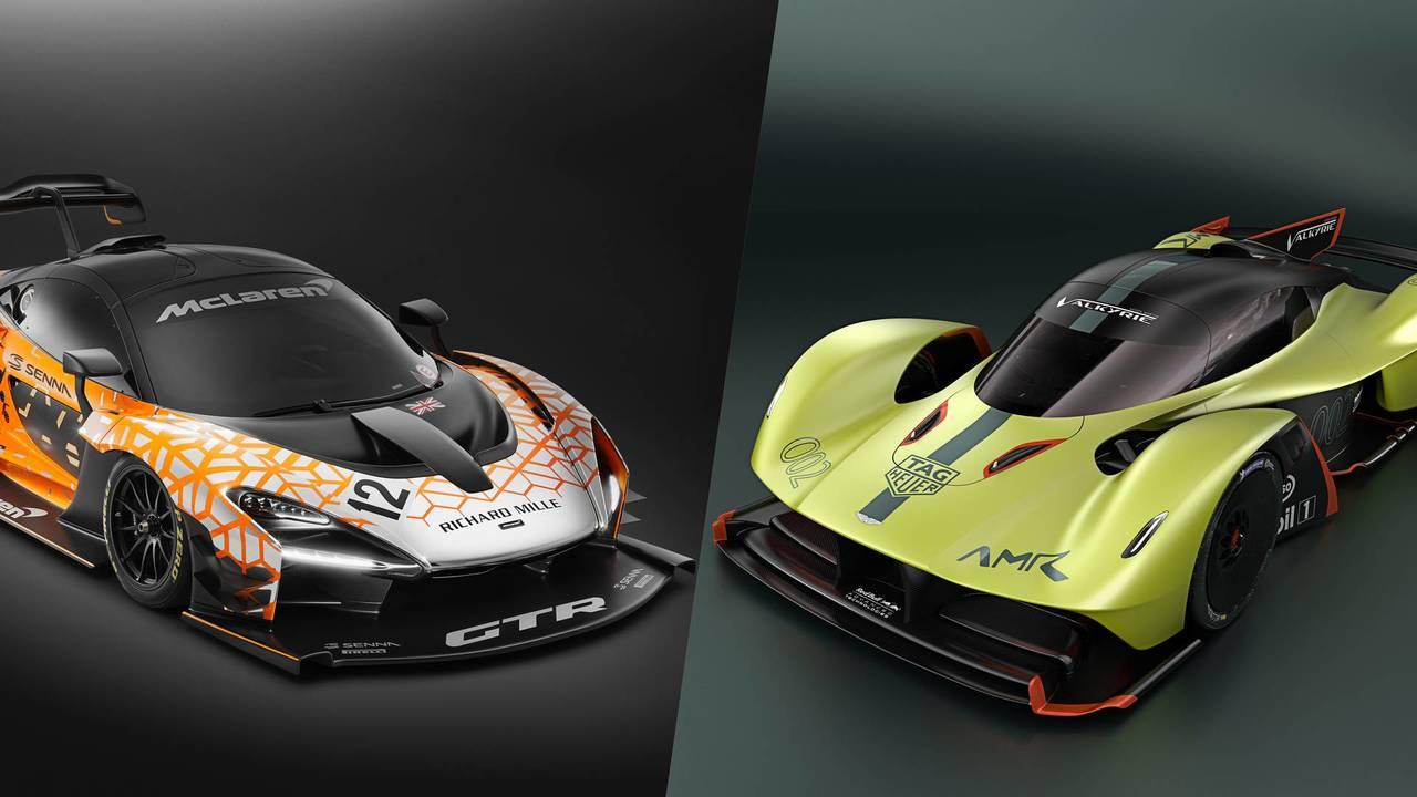 McLaren Senna GTR vs. Aston Martin Valkyrie AMR Pro