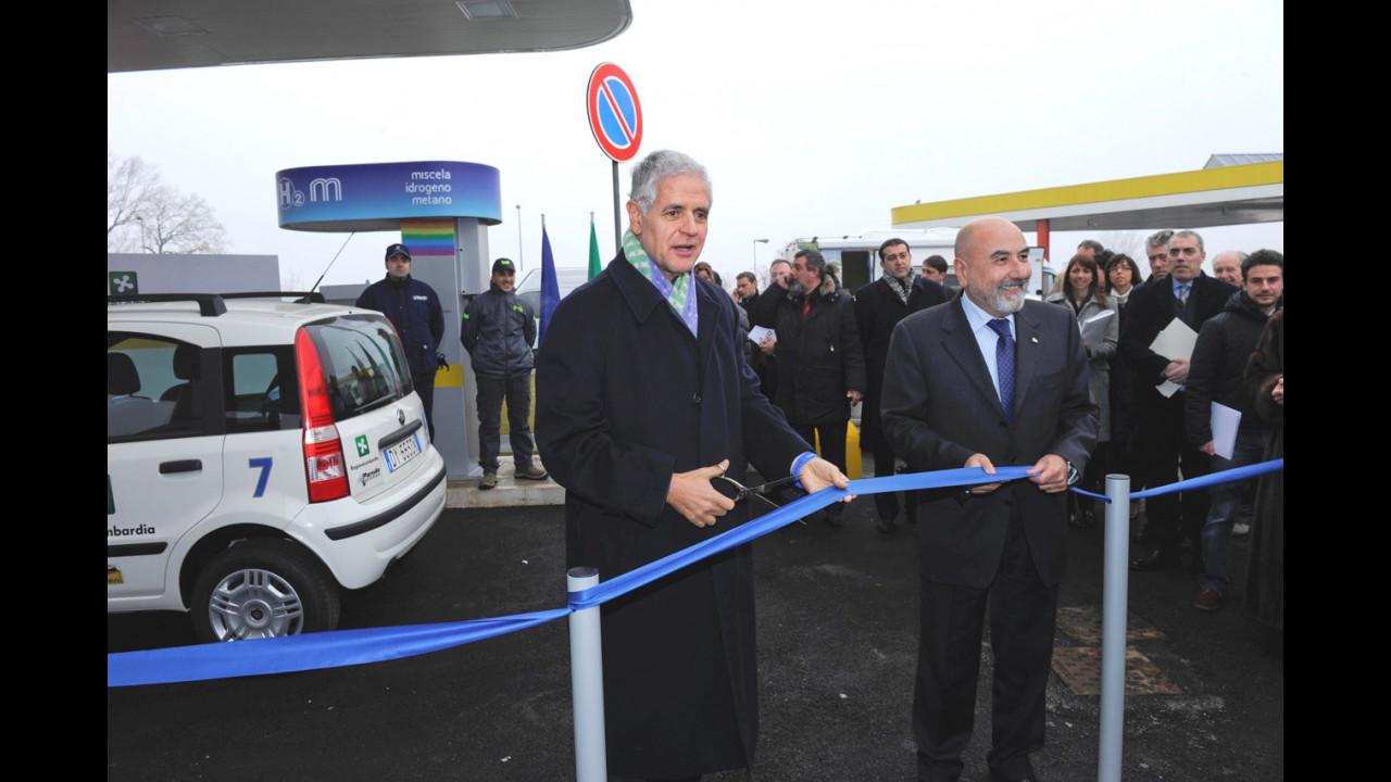 Inaugurazione distributore idrometano ad Assago
