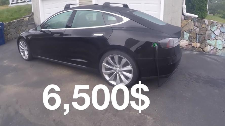 Man Rebuilds Flooded Tesla Model S For Just $6,500