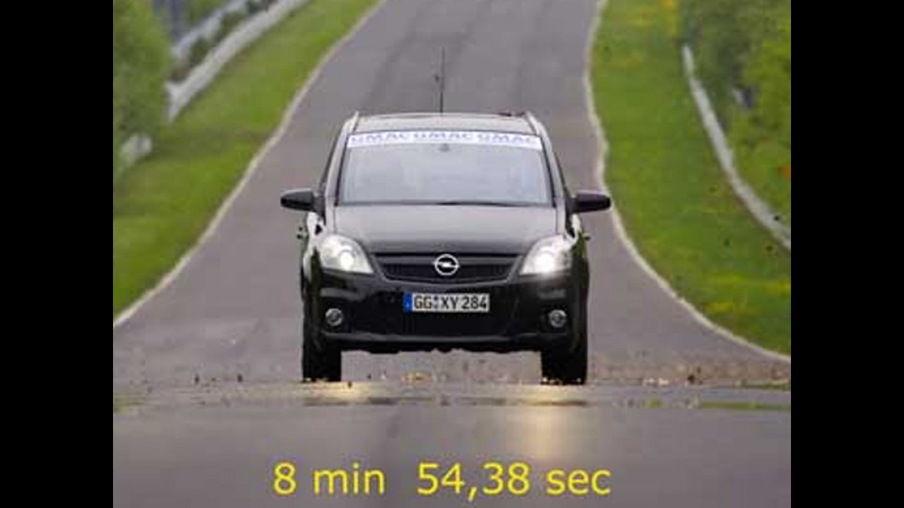 Giro record al Nordschleife per Opel Zafira OPC