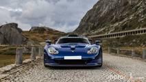 Porsche 911 GT1 en los Alpes