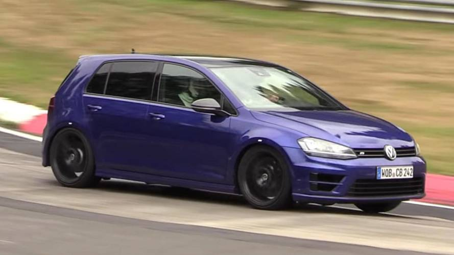 Possible VW Golf R420 spied testing 5-cylinder engine