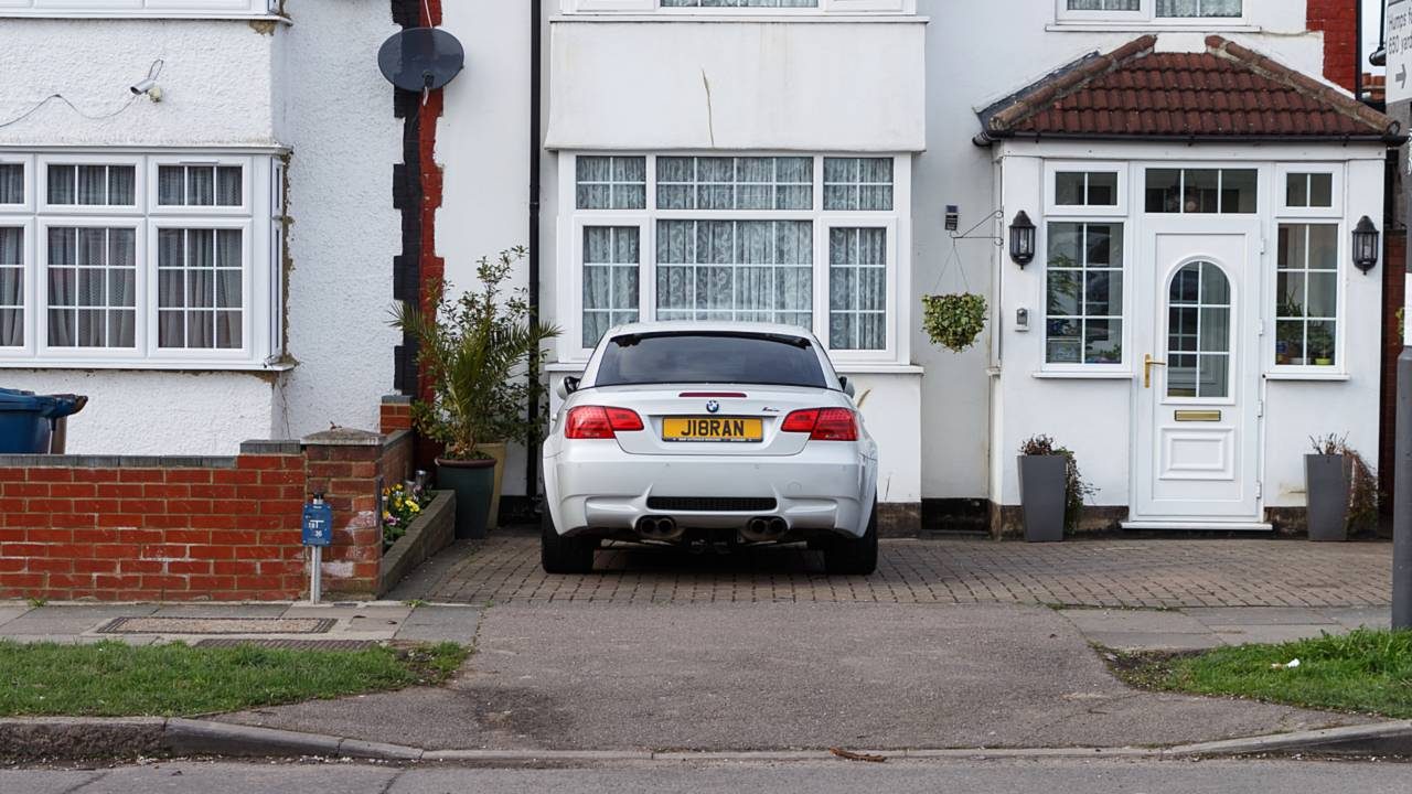BMW M3 parked in driveway