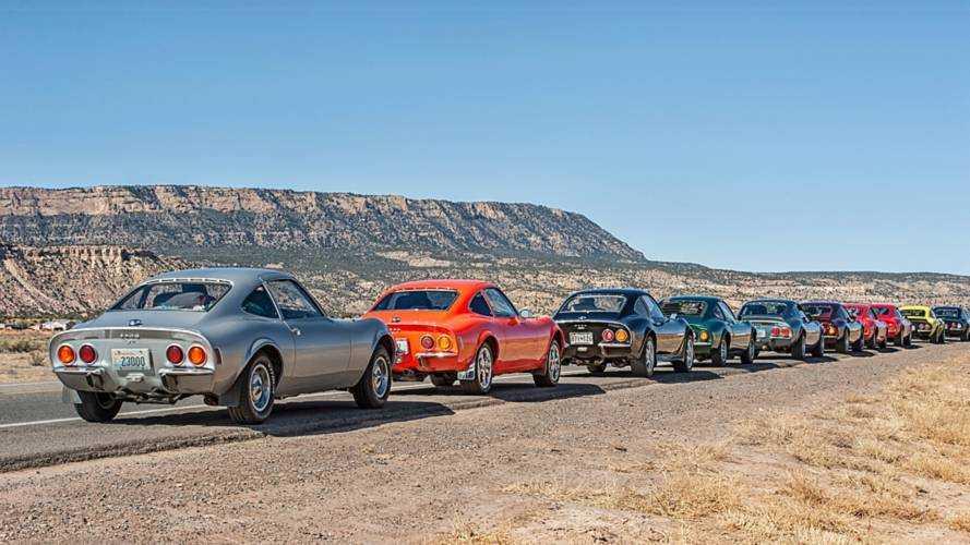 Opel GT clásico en la Ruta 66