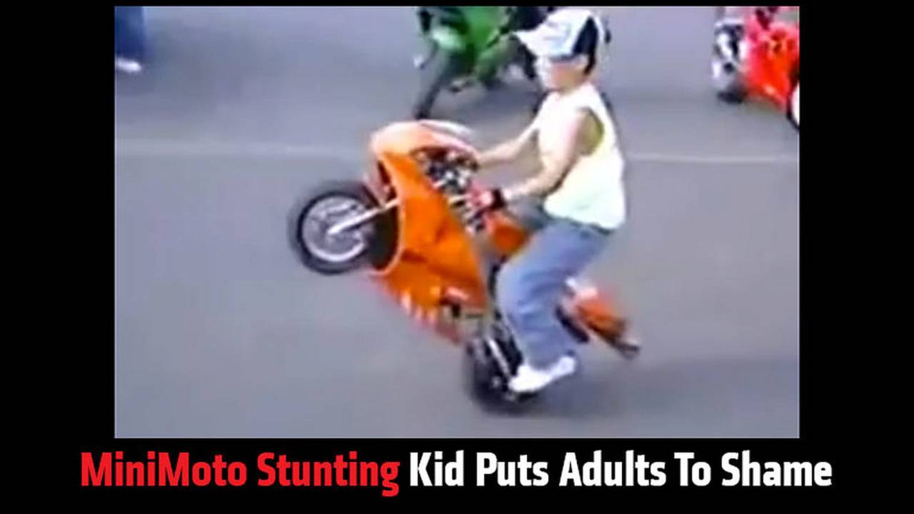 MiniMoto Stunting Kid Puts Adults To Shame