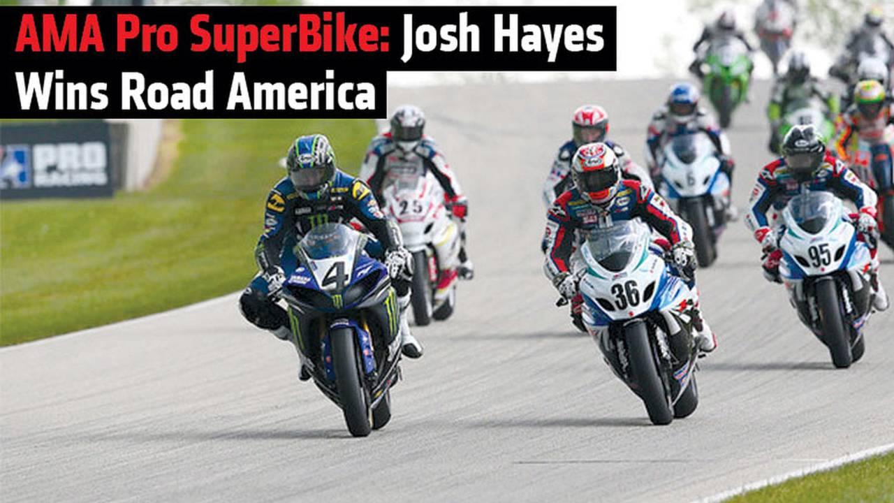 AMA Pro SuperBike: Josh Hayes Wins Road America