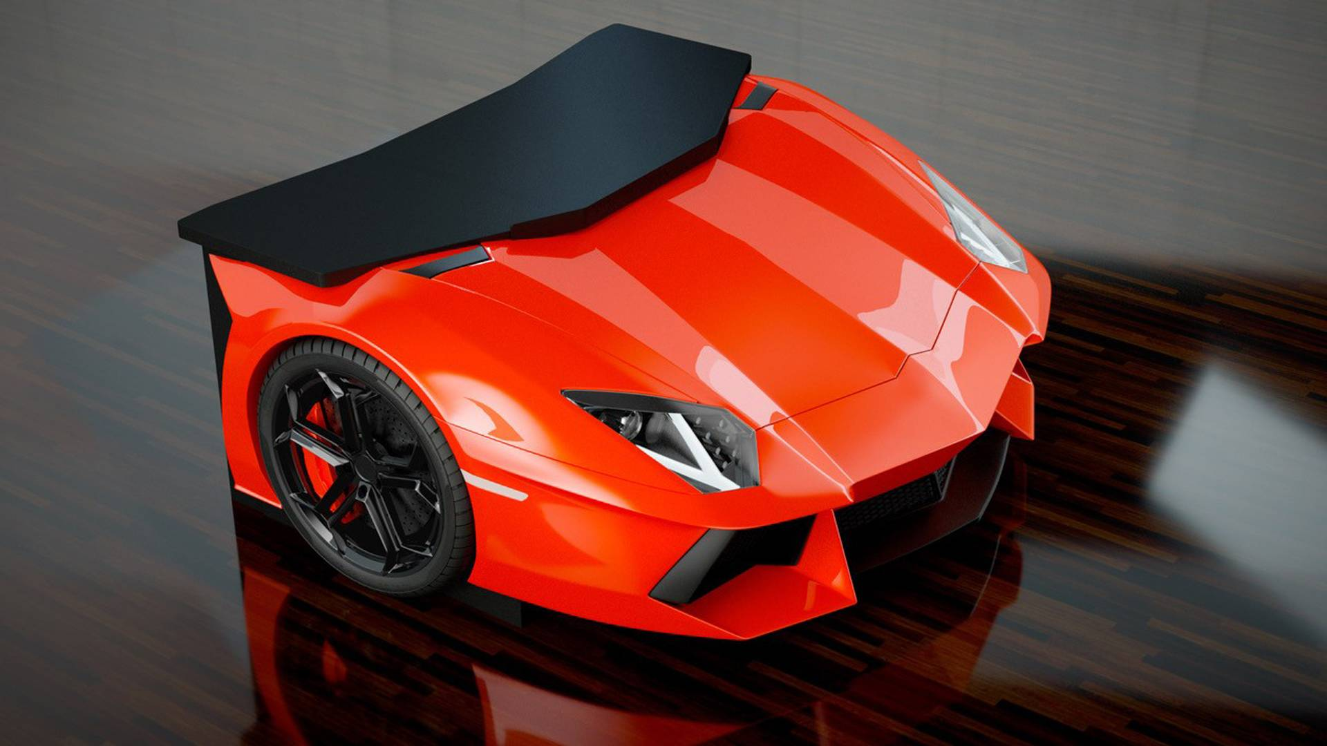 Match your lamborghini aventador with this crazy cool desk