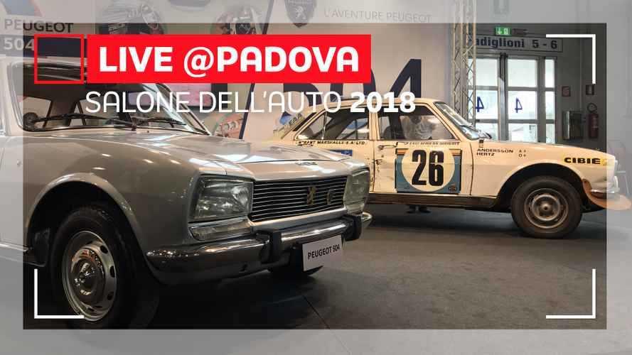Peugeot 504 e Citroen Mehari ad Auto e Moto d'Epoca 2018