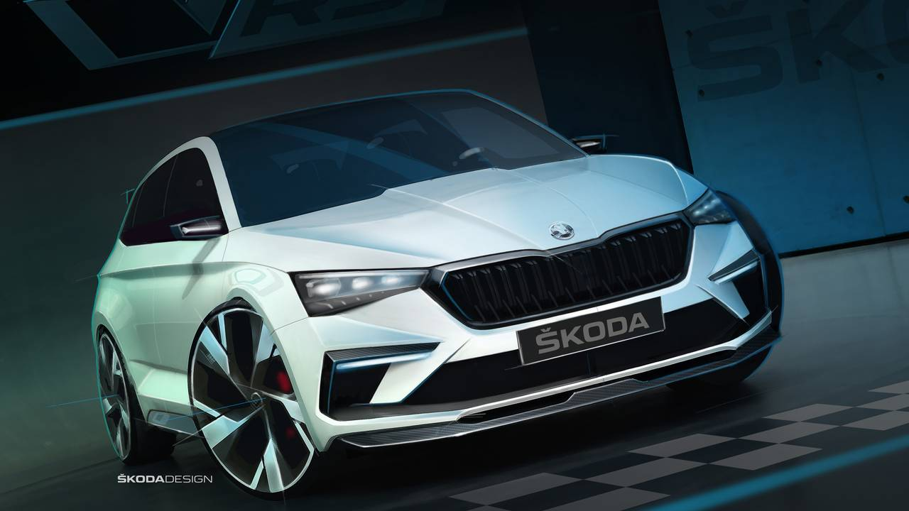 Skoda Vision RS, new teasers