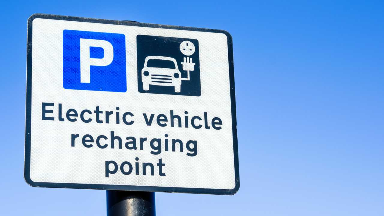 Recharging Point for electric vehicles sign