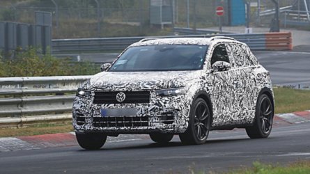 VW T-Roc R Spied Going Flat Out At The Nurburgring