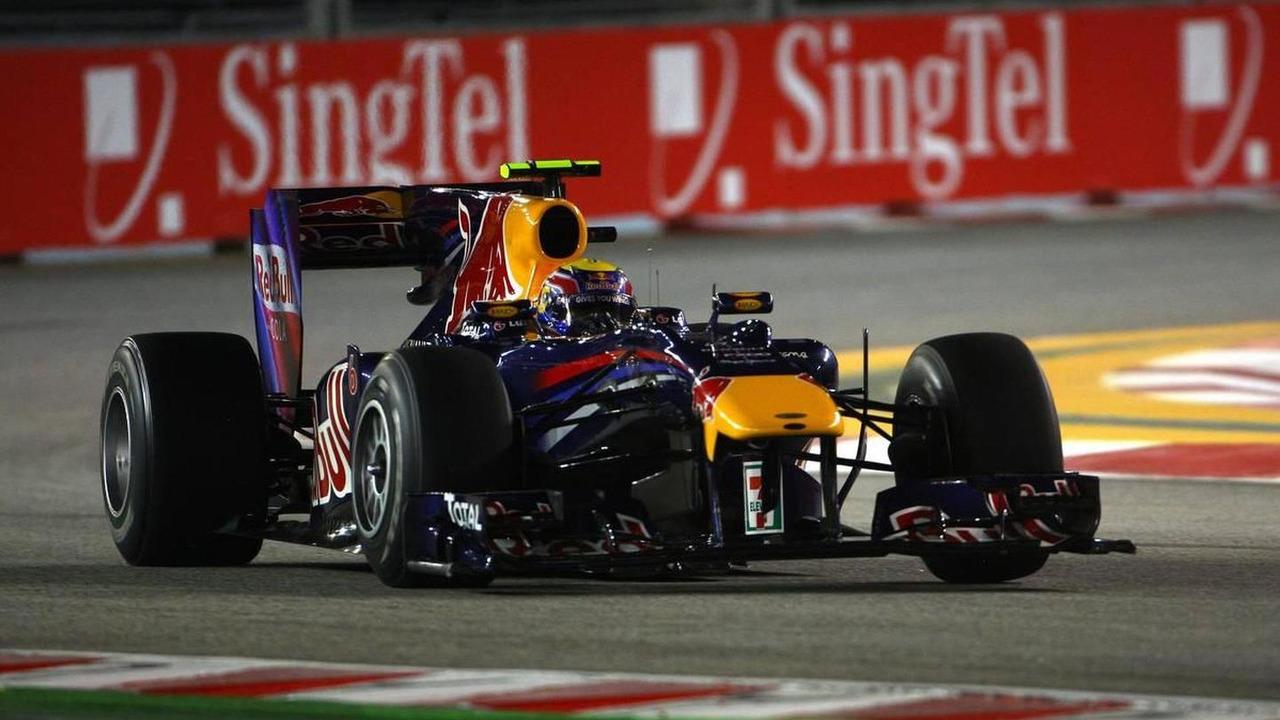 Mark Webber (AUS), Red Bull Racing, RB6 - Formula 1 World Championship, Rd 15, Singapore Grand Prix, 24.09.2010