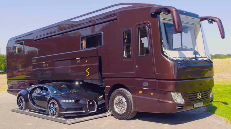 Et si vous rangiez votre Bugatti... dans votre camping-car ?!