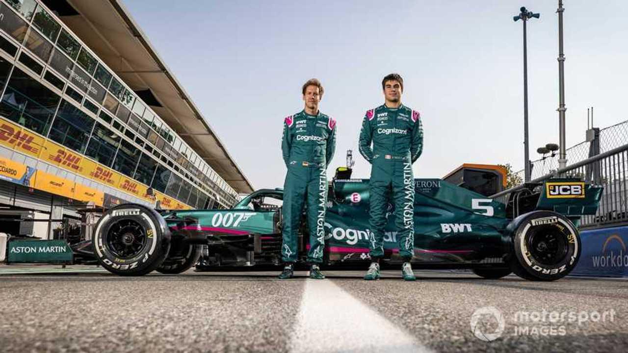 Sebastian Vettel and Lance Stroll at Italian GP 2021