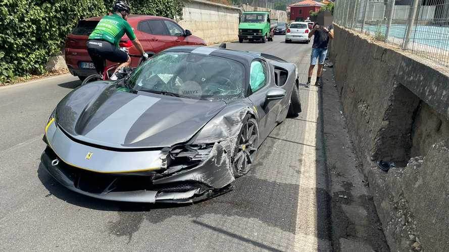 Ferrari SF90 Stradale Assetto Fiorano Crash Is Not Easy On The Eyes