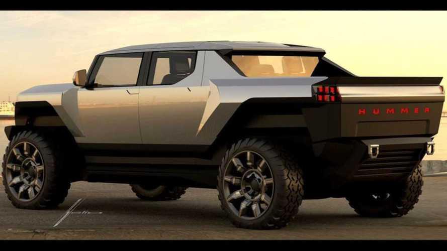 A GMC Hummer EV eleinte olyan futurisztikusan nézett ki, mint a Cybertruck