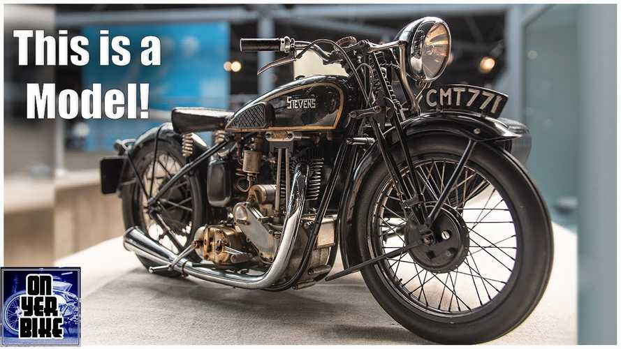 UK: This 1951 Stevens LP5 with sidecar is an insanely intricate model