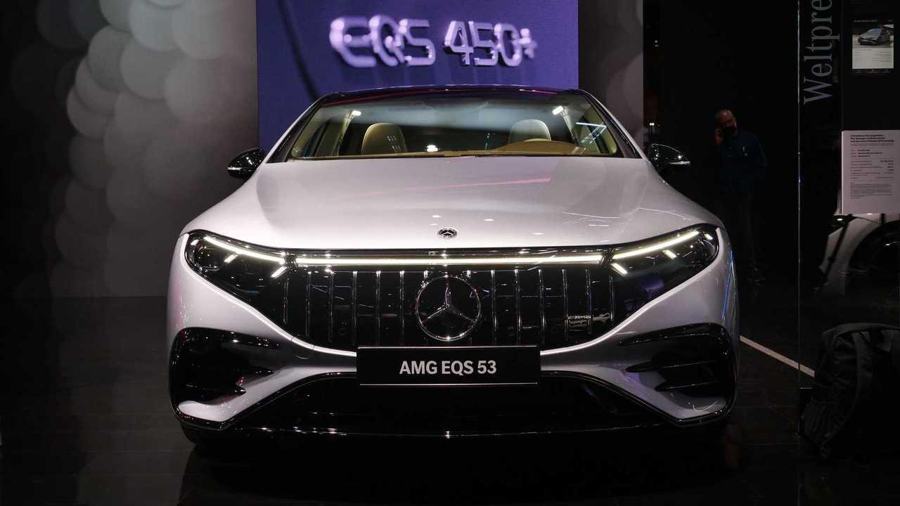 Photos en direct de Mercedes AMG EQS 53 de l'IAA 2021