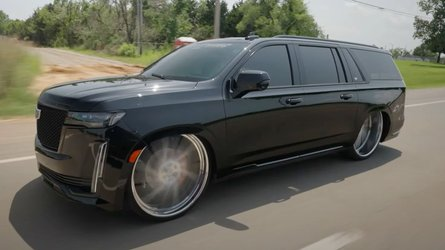 Slammed Cadillac Escalade On 30-Inch Wheels Is Not For Everyone