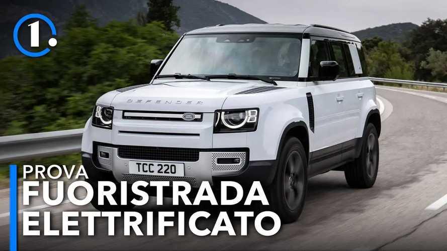 Land Rover Defender, la prova dell'ibrido plug in