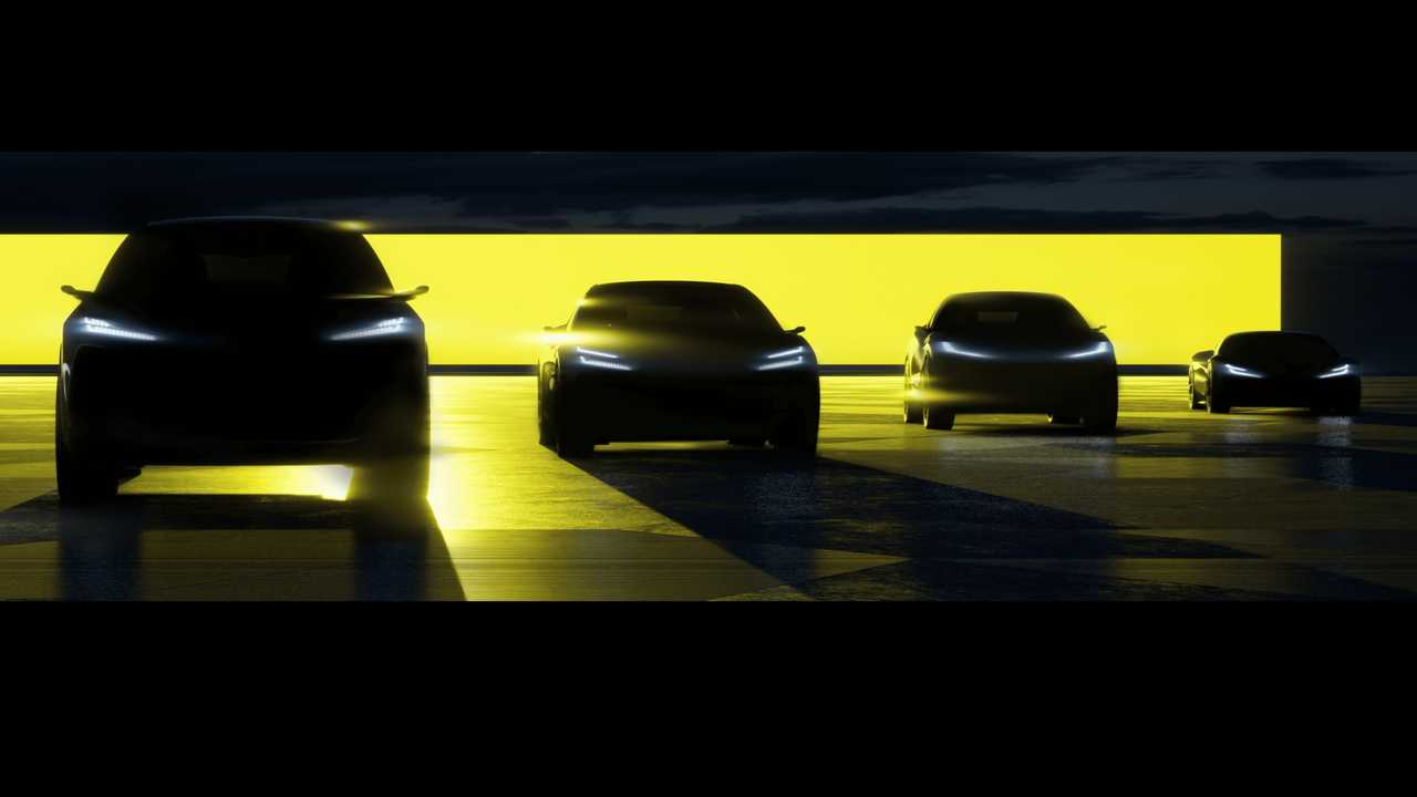 Lotus upcoming electric vehicle family teased
