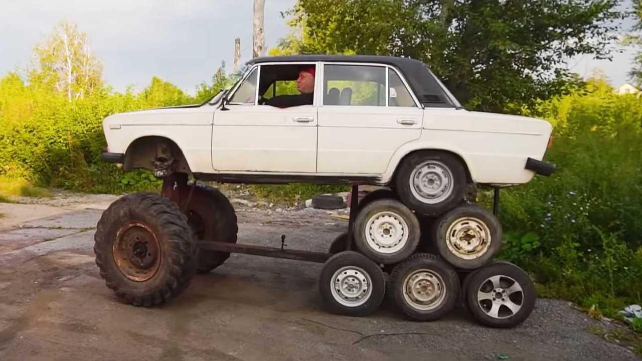 «Лада» с 14 колесами